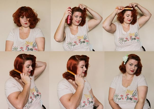 pinup hair style tutorial