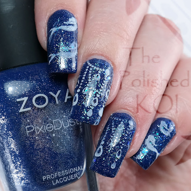 Zoya Sunshine ; mermaid nail art
