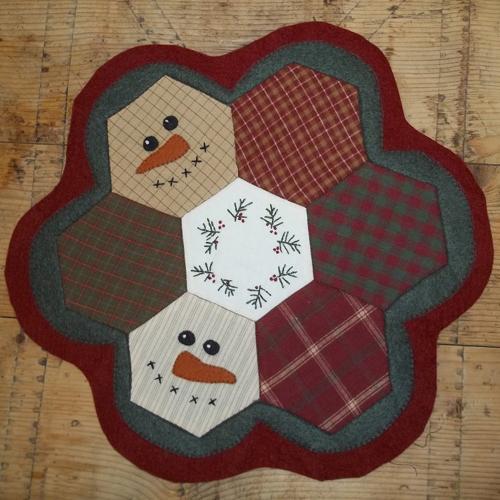Snowman Mat Free Pattern