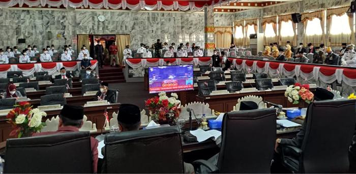 DPRD Lampura Gelar Paripurna Istimewa Mendengarkan Pidato Presiden