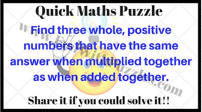 Quick Maths Puzzle Question