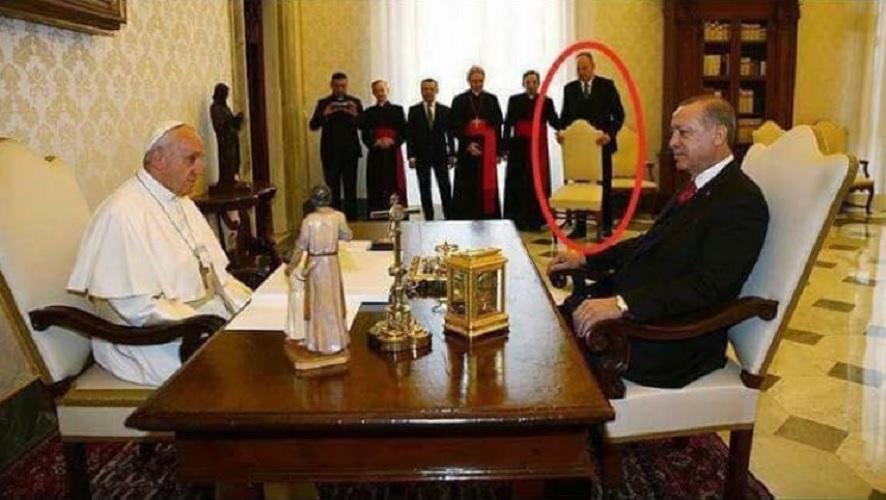 Erdogan dan Paus Fransiskus di vatikan