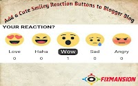 Add a Cute Smiley Reaction Buttons to Blogger blog