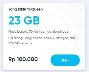 Paket data By.u Yang Bikin Yaqueen 23GB 100.000 Masa Aktif 30 Hari