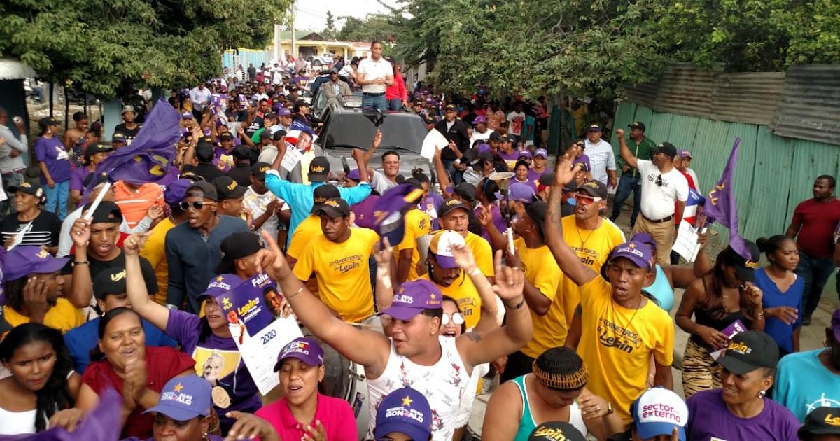 SAN JUAN DE LA MAGUANA: Villa Liberación marcha con su candidato a la alcaldía Lenin de la Rosa