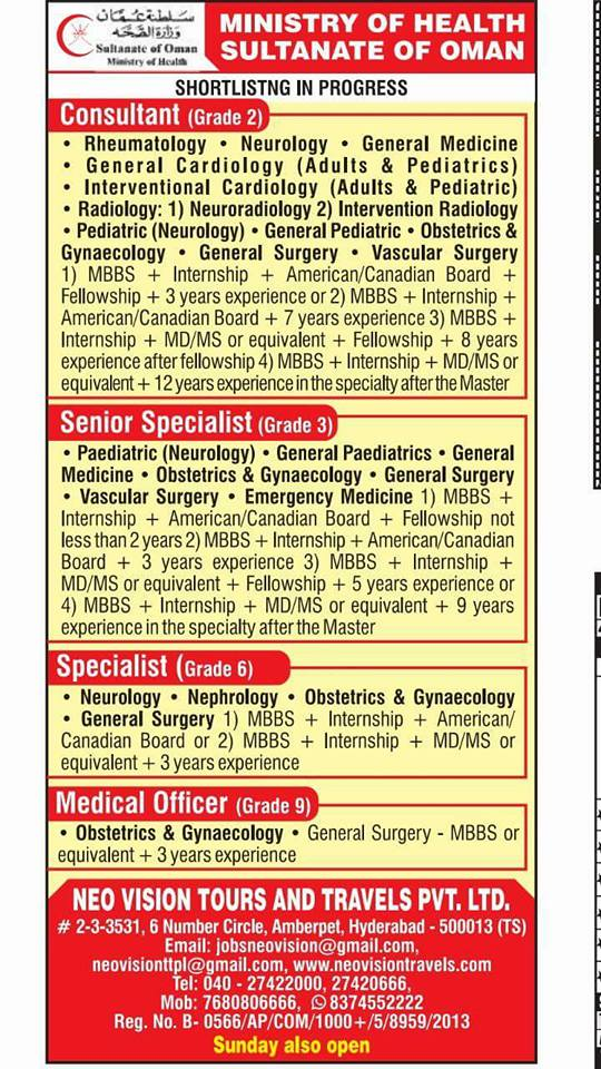 Ministry of Health Oman Jobs - AMERICAN WORKERS LOOKING FOR JOBS
