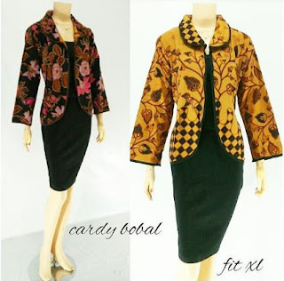 Blouse cardigan motif batik model terbaru fashionable