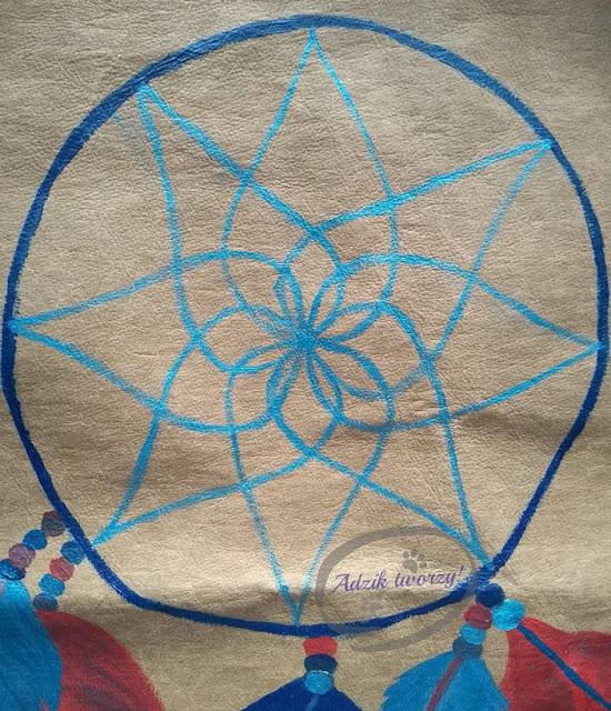 jak namalować sieć łapacz snów DIY na tkaninie