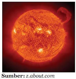 Matahari salah satu bintang dari miliaran bintang di Galaksi Bimasakti