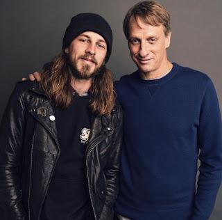 American skateboarder Riley Hawk with his father Tony Hawk