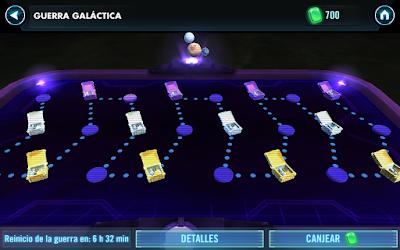 La Guerra Galáctica se compone de 12 nodos en los que deberemos derrotar a un equipo en cada uno de dichos nodos.