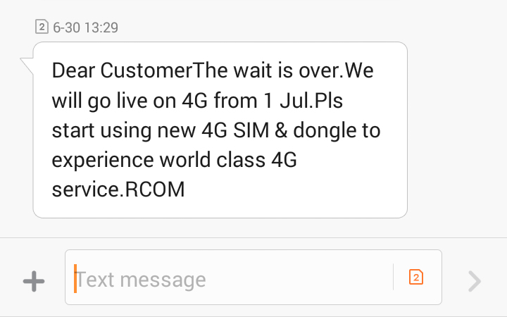 Reliance CDMA will go LIVE on 4G from 1st July 2016