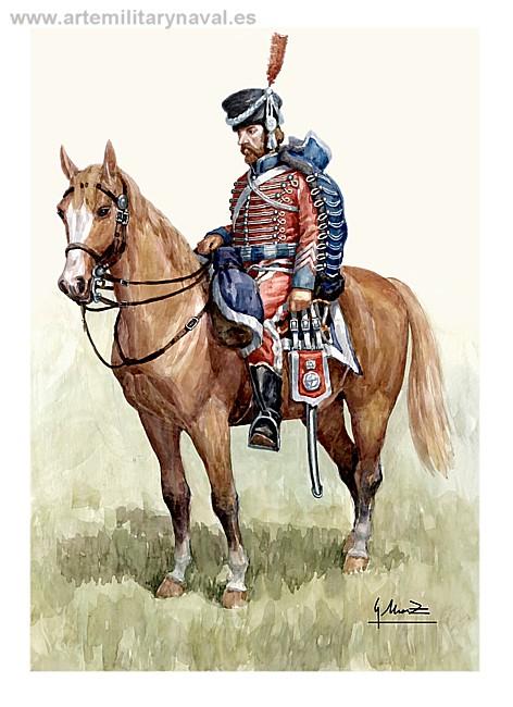 Guerra de Independencia. Húsar Cantabria 1810