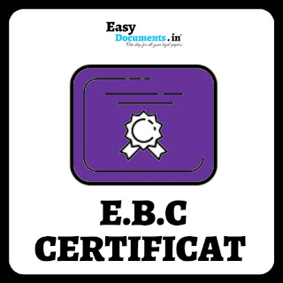 EBC CERTIFICATE