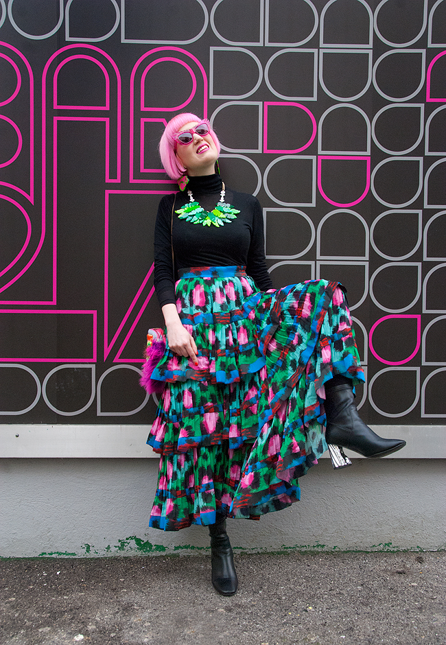Kenzo maxi skirt, leopard print look, blogger style