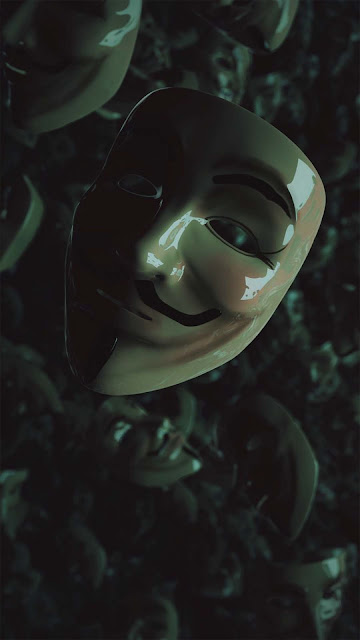 20 Dark Glance Mask Anonymous Wallpapers for Android and iPhone