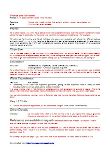 Download Free Sample CV Format , CV templates Tanzania |Download