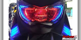 Tampilan Modifikasi Lampu Depan Motor