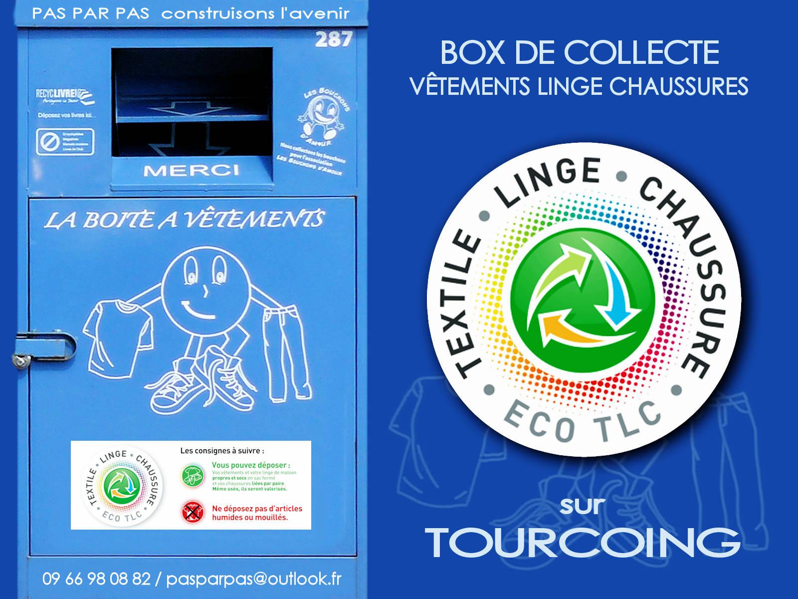 Containers Collecte Boîte à Vêtements Tourcoing - Pas par Pas