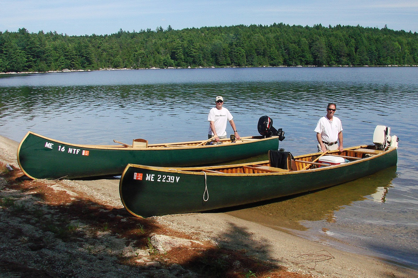 Flat Back Canoe With Motor
