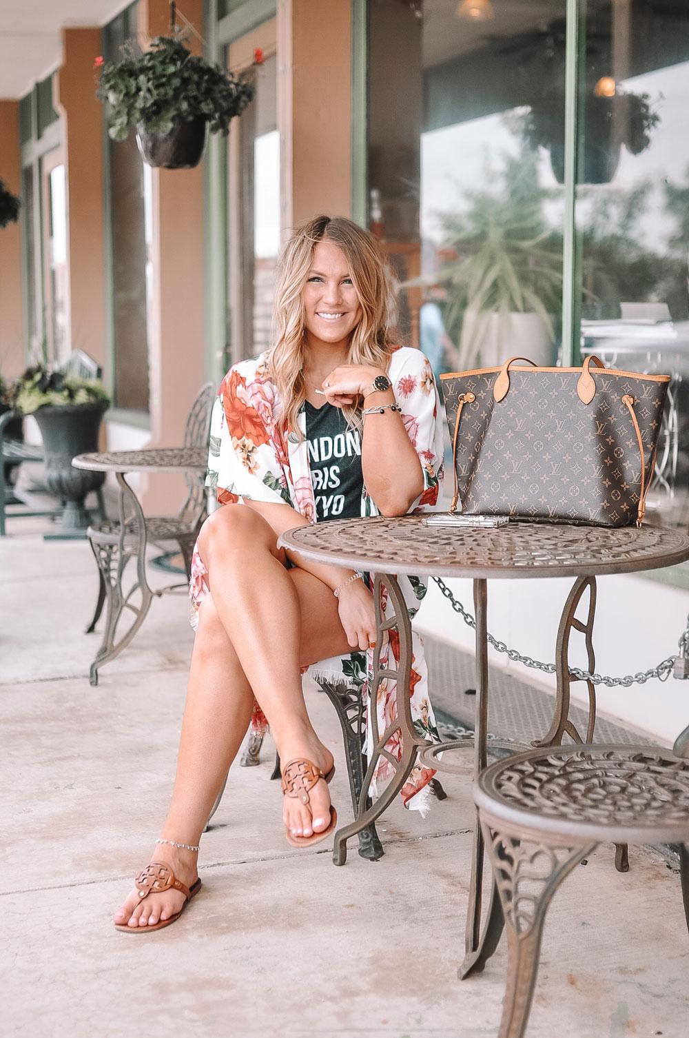 Blogger Amanda Martin exploring downtown Sulphur, Oklahoma