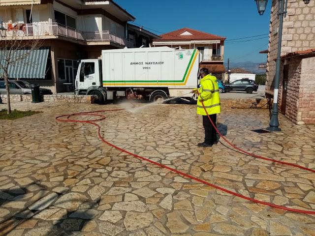 Εργασίες καθαριότητας στην Τοπική Κοινότητα Παναριτίου