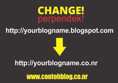 Ganti URL Blog dengan Nama Domain Sendiri