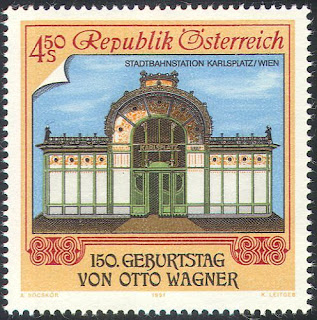 Austria 1991 Karlsplatz Railway Station