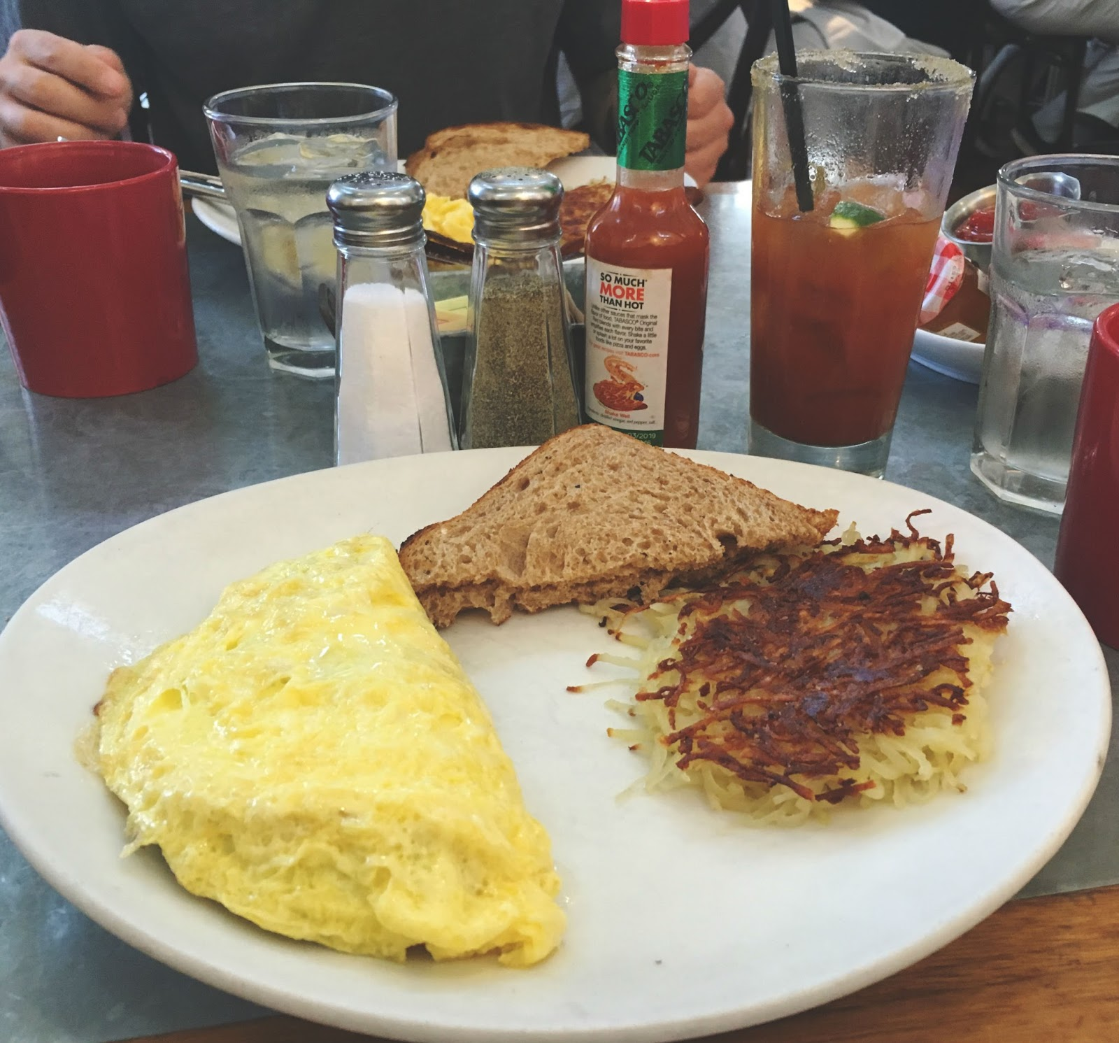 omelet at Boon Fly Cafe - a restaurant in Sonoma, California