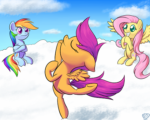 Another commission for Scootaloo to be showing off a dance like ballet.