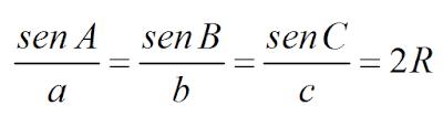 formula lei dos senos equação