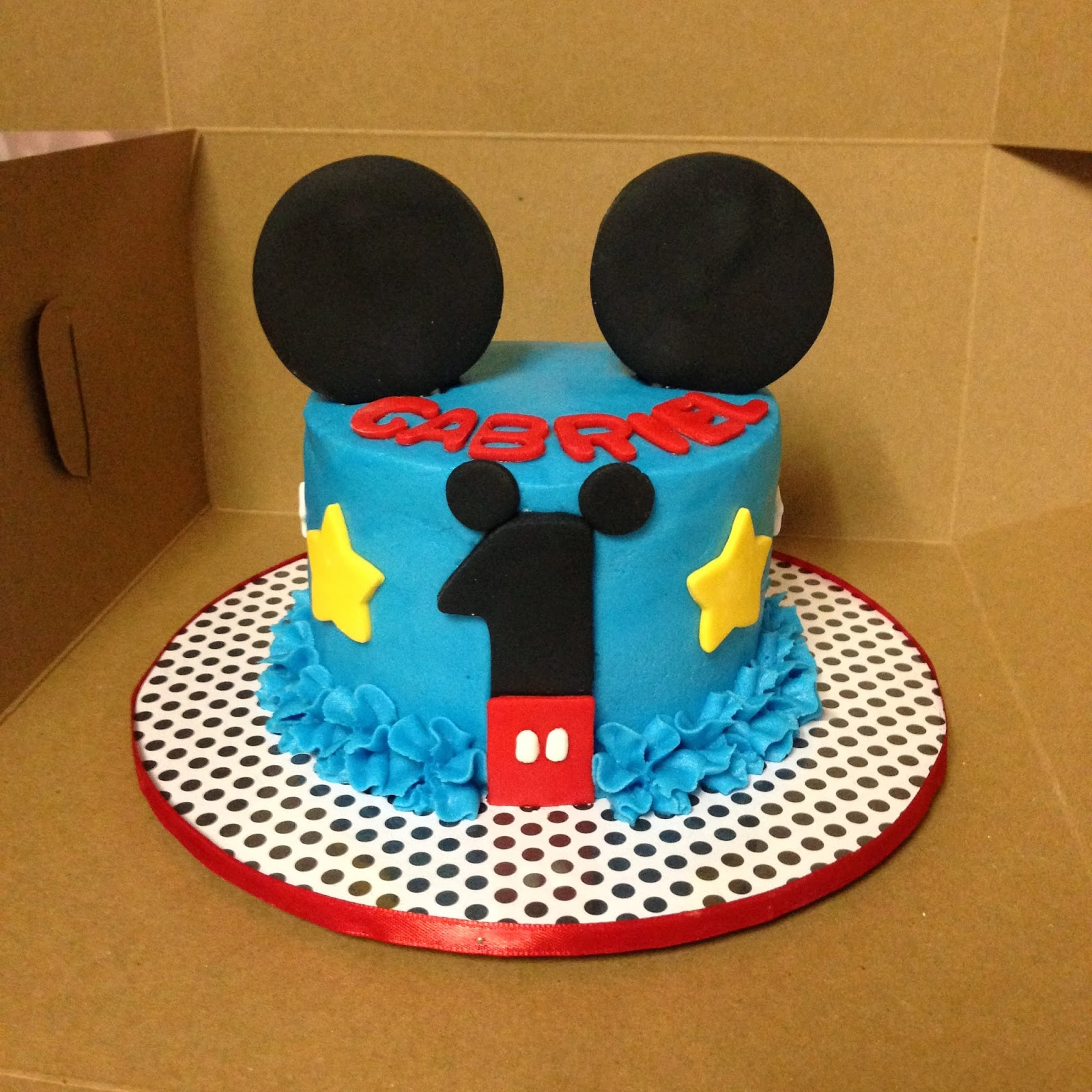 """Mickey Mouse 1st Birthday Smash Cake: Cakes By Mindy: Mickey Mouse Smash Cake 4"""""""
