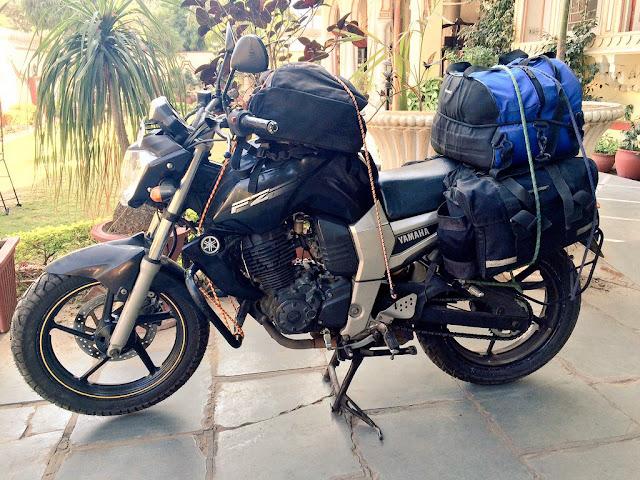 Motorcycle trip - saddlebag