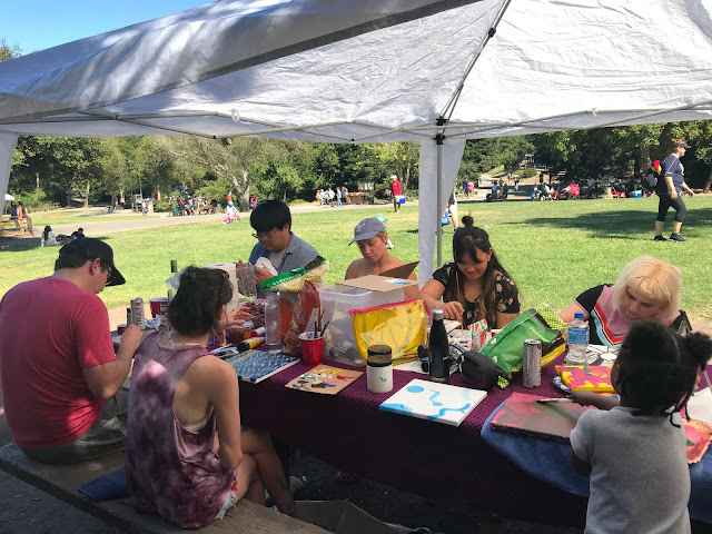 lake chabot art in the park group painting
