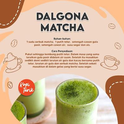 Dalgona Matcha