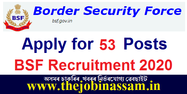 BSF Recruitment 2020: