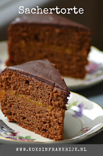Dol op chocolade en taart? Maak dan eens deze sachertorte. Makkelijk recept en erg lekker!