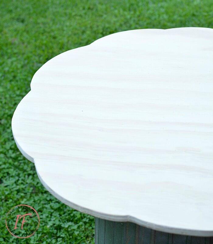 DIY Bistro Cafe Wood Tabletop Sanded
