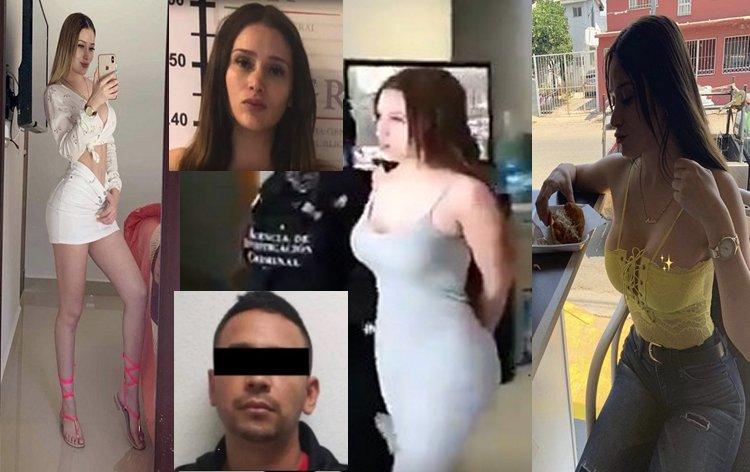 """Ella es Maine, la atractiva y buena modelo que fue detenida junto a """"El Caimán"""" líder del CJNG, fueron detenidos en SLP por la FGR"""