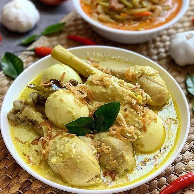Resep Opor Ayam dan Telur
