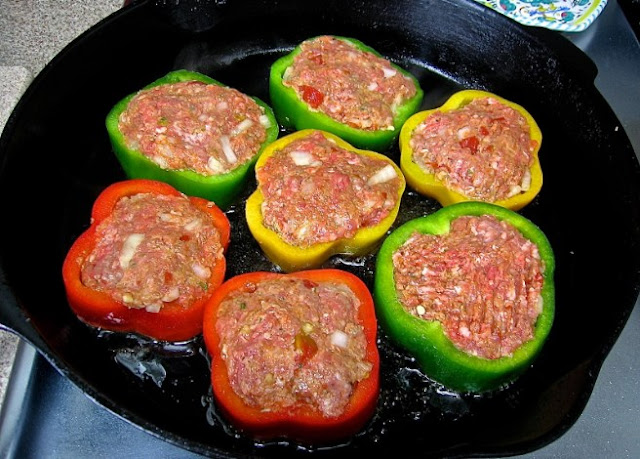 Mini Meatloaf Pepper Rings #lowcarb #keto