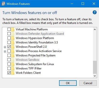Item Windows 10 Sandbox berwarna abu-abu