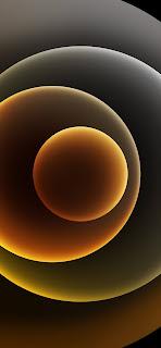 خلفية ايفون 12 ذهبية