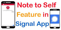 Note to Self feature in Signal App|