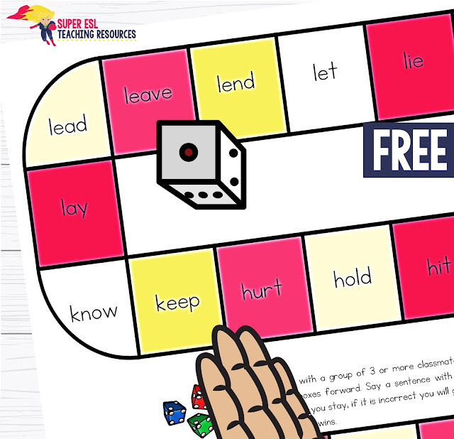 There are so many mornings during the school year that I wish I had a pile of ready to go Irregular Verbs Board Games for ESL Students. Are you the same? Teaching irregular verbs is one of those things that, no matter how many times you repeat it. You know for sure that ESL students need more and more practice on.