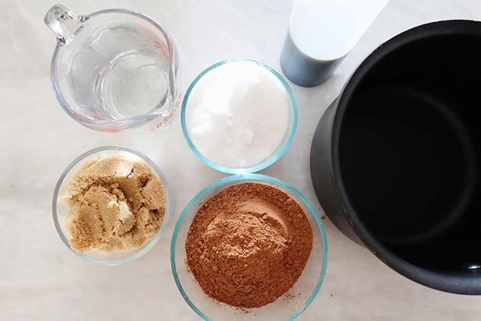 chocolate syrup ingredients prep