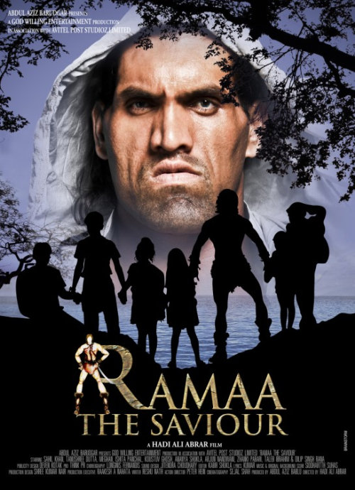 Ramaa The Saviour Movie stars Sahil Khan and Tanushree Dutta and features the WWE wrestler, The Great Khali