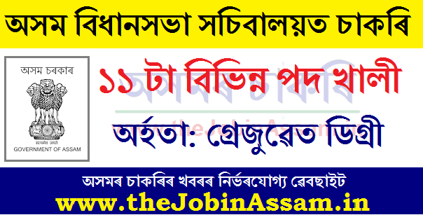 Assam Secretariat Recruitment 2020
