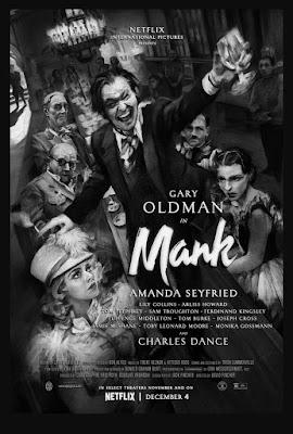MANK, la película en blanco y negro de David Fincher para Netflix - poster