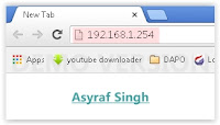 type Ip address on address bar